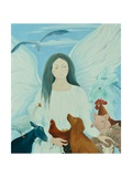Protecting Angel, 2012 Giclée-tryk af Magdolna Ban