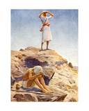 Elijah and His Servant Watching for Rain on Mount Carmel Giclee Print by William Henry Margetson
