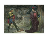Romeo and Juliet Giclee Print by John Moyr Smith