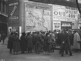 Crowd Looking at the Progress of the Army on Maps in the Grands Boulevards, Paris, 20th October… Photographic Print by Jacques Moreau