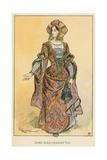 Dame Sous Charles VIII Giclee Print by Albert Robida