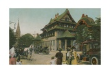 Chinese-Style Building. Postcard Sent in 1913 Giclee Print by  English Photographer