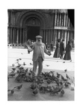 Claude Monet, St.Mark's Square, Venice, October 1908 Reproduction photographique par  French Photographer