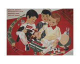 Let Us Bring Up Healthy and Happy Children, Dedicated to their Soviet Mother Country!, 1937 Giclee Print by Galina Konstantinovna Shubina