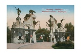Hamburg - Stellingen. Main Entrance to the Tierpark Hagenbeck. Postcard Sent in 1913 Giclee Print by  German photographer