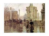 Paul Cornoyer - The Dewey Arch, Madison Square Park, c.1900 - Giclee Baskı