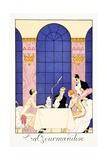 Gluttony, from 'Falbalas and Fanfreluches, Almanach des Modes Présentes, Passées et Futures', 1925 Giclee Print by Georges Barbier