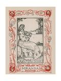 Miranda, The Tempest Giclee Print by Robert Anning Bell