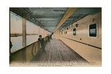 Le Havre - Interior of SS France, Ocean Liner Owned by Compagnie Generale Transatlantique.… Giclee Print by  French Photographer