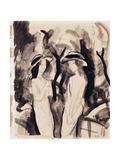 Two Girls; Zwei Madchen, 1914 Giclée-tryk af Auguste Macke