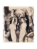 Two Girls; Zwei Madchen, 1914 Giclee Print by Auguste Macke