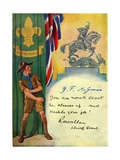 'Be Prepared', Boy Scout Enrolment Card. 1947 Giclee Print by  English School