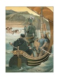 This Is the Port of Rest from Troublous Toyle Giclee Print by Walter Jenks Morgan
