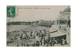 Picturesque Biarritz - Biarritz, Queen of Beaches. Postcard Sent in 1913 Reproduction procédé giclée par  French Photographer