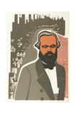 Karl Marx, 1970 Giclee Print by Evgenia Endrikson