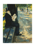 Gentleman in the Park; Herr Im Tiergarten, c.1900 Giclee Print by Lesser Ury