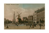 Rotterdam - Pieter Caland Monument. Postcard Sent in 1913 Giclee Print by  Dutch Photographer