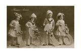 New Year Greetings Postcard, Sent in 1913 Impressão giclée por  French Photographer