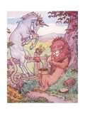 The Lion and the Unicorn Giclee Print by Leonard Leslie Brooke