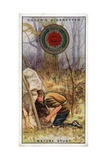 Nature Study Badge for Scouts, Scout Entering a 'Hide', 1929 Giclee Print by  English School