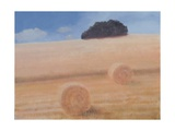 Two Hay Bales, 2012 Giclee Print by Lincoln Seligman