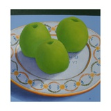 Three Green Apples, 2009 Giclee Print by Ann Brain