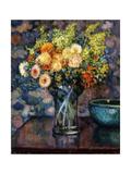 Vase of Flowers; Vase de Fleurs, c.1911 Giclee Print by Théo van Rysselberghe