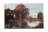 The River Cherwell, Below the Parks Giclee Print by William Matthison