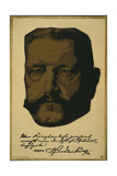 Portrait of General Field Marshall Paul Von Hindenburg, 1917 Giclee Print by Louis Oppenheim