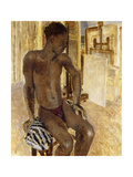 Negro Model in the Studio, 1936 Giclee Print by Glyn Warren Philpot