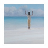 Rasta on Beach, 2012 Giclee Print by Lincoln Seligman