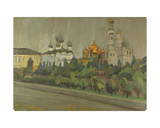 View on the Kremlin, from Natalia Gippius' Studio, 1965 Giclee Print by Nina Ivanovna Shirokova