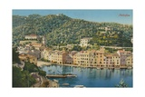 Portofino, Italy. Postcard Sent in 1913 Giclee Print by  Italian Photographer