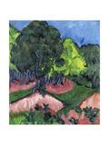 Landscape with Chestnut Tree; Landschaft Mit Kastanienbaum, 1913 Giclee Print by Ernst Ludwig Kirchner