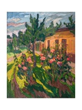 Roses in My Forecourt, 2012 Giclee Print by Marta Martonfi-Benke