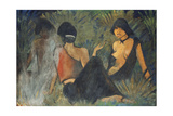 Gypsies by the Campfire (Recto); Zigeunerinnen Am Lagerfeuer (Recto), c.1927 Giclee Print by Otto Muller or Mueller