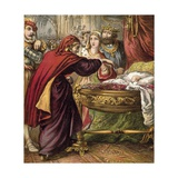 The Sleeping Beauty in the Wood Giclee Print by  English School
