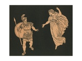 Aeneas and the Shade of Creusa Giclee Print by Bartolomeo Pinelli