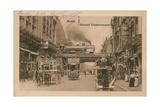 Postcard of the Railway Station at Friedrichstrasse, Berlin, Sent in 1913 Giclee Print by  German photographer