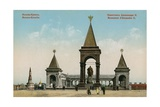 Monument to Tsar Alexander II, Moscow. Postcard Sent in 1913 Giclée-tryk af Russian Photographer