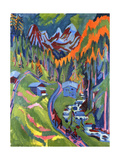 Ernst Ludwig Kirchner - Sertig Path in Summer; Sertigweg Im Sommer, 1923 Digitálně vytištěná reprodukce