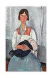 Zingara con bambino, 1919 Stampa giclée di Amedeo Modigliani