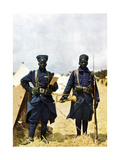 Riflemen from Senegal During the Battle of the Marne East of Paris, September 1914 Giclee Print by Jules Gervais-Courtellemont