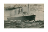 The German Liner, Vaterland. Postcard Sent in 1913 Giclee Print by  German photographer