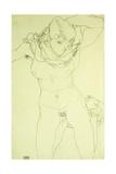 Kneeling Nude from the Front; Kniender Akt Von Vorn, 1914 Giclee Print by Egon Schiele