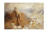 Prometheus Consoled by the Spirits of the Earth 'How Fair These Air-Borne Shapes! and Yet I Feel… Giclee Print by George Spencer Watson