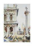 The Corner of the Libreria, with the Column of St. Theodore, Venice, 1904 Giclee Print by John Singer Sargent
