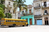 School Bus, Havana, Cuba Photographic Print