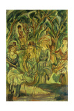 Women in the Park; Femmes Dans Le Parc, 1917 Giclee Print by Jules Pascin