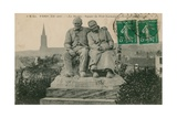 Le Declin (The Decline), Statue in the Square Du Pere Lachaise, Paris, by C Giclee Print by  French Photographer
